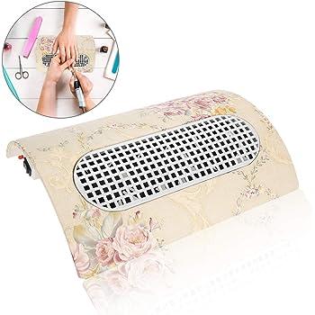 Colector de polvo para uñas 3800 RPM Herramienta para aspiradoras de polvo para uñas con tres ventiladores y dos bolsas de recolección de polvo(eu): Amazon.es: Belleza