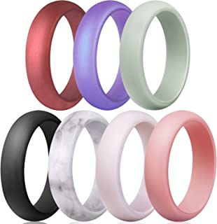 Egnaro Silicone Wedding Ring for Women, Womens Rubber Engagement Ring, Multiple Pack, Great Replacement