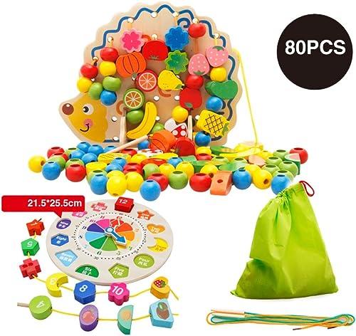 marca Duzhengzhou Los Niños de Madera Madera Madera de Madera del Aniñal de Granja Beads Frame Roller Coaster Laberinto - Juguetes educativos para Niños  Envío rápido y el mejor servicio