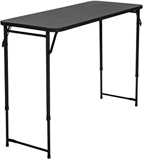 "COSCO 20"" x 48"" Adjustable Height PVC Top Table, Black"