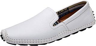 Xposed Tassel Mocassins Homme Brillant Patent Glisse Hommest Line en Cuir sur Les Chaussures De Conduite Smart D/écontract/é UK Taille 6 7 8 9 10 11 11.5