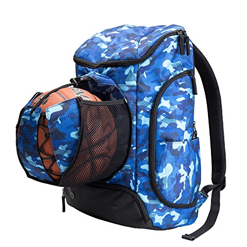 Kuangmi Basketball Backpack Ball Pocket All Sports Gym Travel Bag for Basketball,Soccer,Volleyball,Football,Rugby