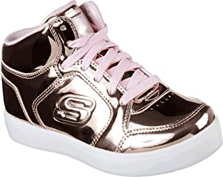 Skechers Girls S Lights Energy Lights High Top,Rose Gold,US 7.5 M