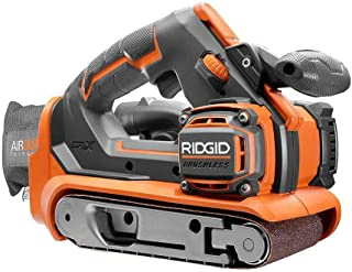 RIDGID 18-Volt GEN5X Cordless Brushless 3 in. x 18 in. Belt Sander (Tool-Only) with Dust Bag and (1) 80 Grit Sanding Belt