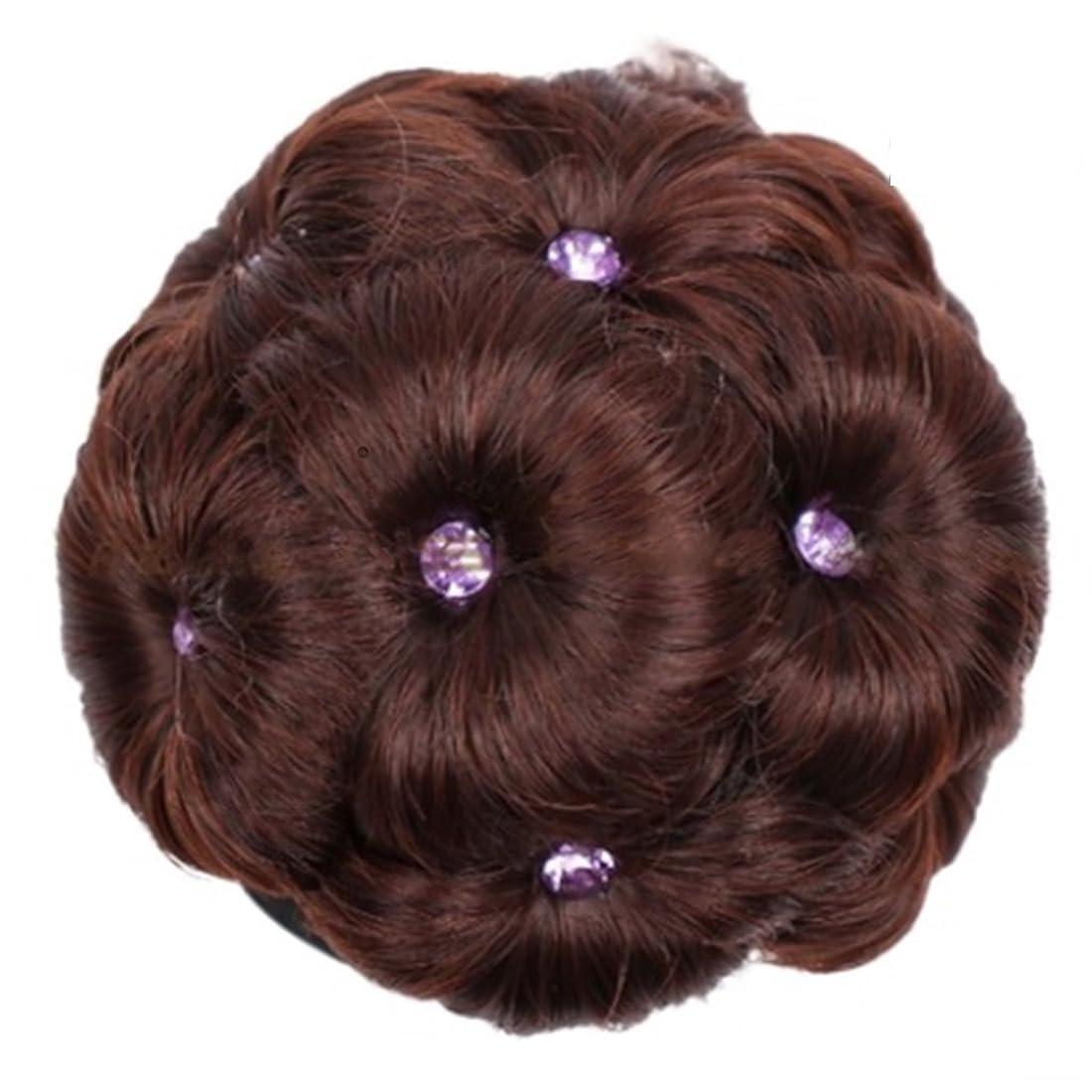 登録する大学生健康Koloeplf 合成繊維髪の毛の拡張子のドリル九花の女性と女性のためのヘアピース (Color : 2/33#)