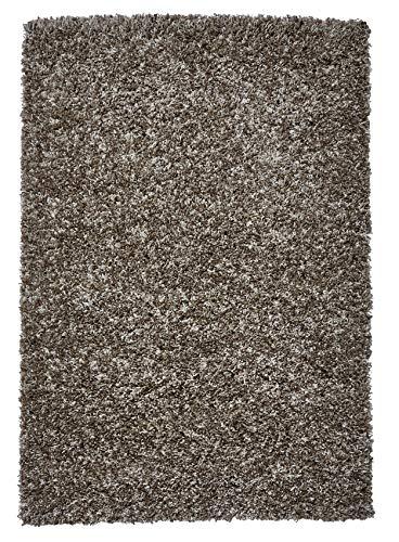 Think Rugs Vista Tapis à poils longs 100 % polypropylène Beige 120 x 170 cm
