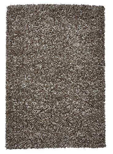 Think Rugs Vista Hochflor-Teppich, 100% Polypropylen, groß, Beige (Verschiedene Größen), Polypropylen, beige, 120 x 170 cm
