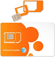 10-PK AT&T Triple Cut 4G LTE Sim Card New Unactivate, in One (3-in-1)