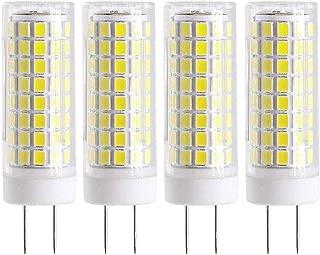 All New LED G8 Light Bulb, GY8.6 BI-PIN Base LED Bulb, Dimmable Daylight White 7W LED Light, T4 G8 75W Halogen Xenon Replacement Light Bulb (4 Pack)