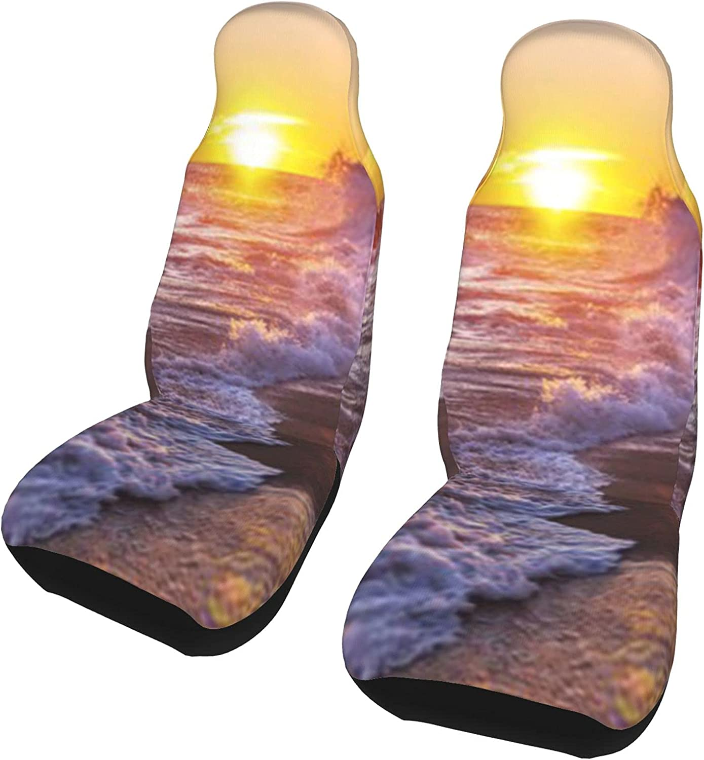 Beautiful Bargain sale Beach Ranking TOP17 Sunset Front Seat Covers Set Pcs 2 Car Protector