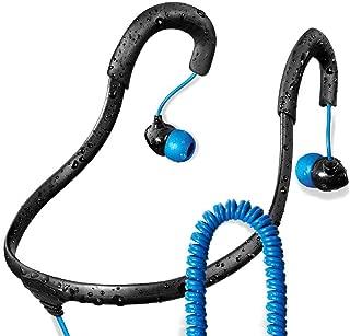Surge Sportwrap+ IPX8 Waterproof Headphones | Neckband Headphones/in Ear Headphones | Sport Headphones w/ 3.5mm Headphone Jack | Noise Cancelling Headphones w/ 6 Sets of Earplugs & 1 Year Warranty