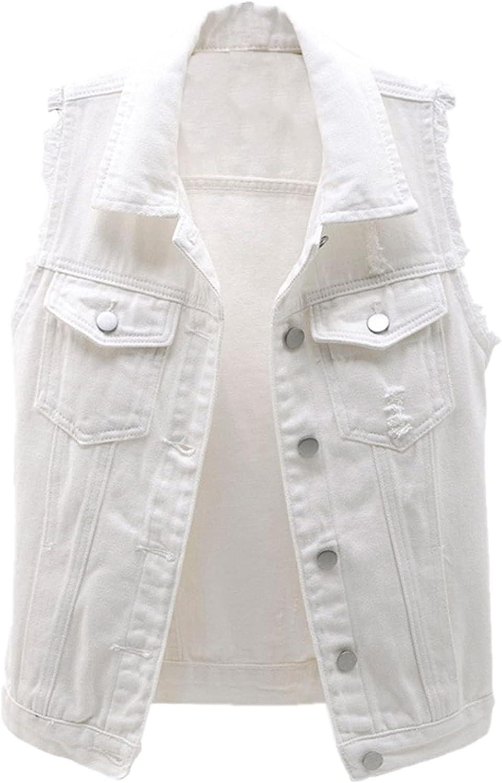 SANGTREE Women's Denim Outerwear Vests