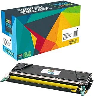 Do it Wiser Compatible Toner Cartridge Replacement for C746A1YG Lexmark X746de C746 C748 X748de C748de C746dn XS748de X748 X746 C746n C748de 748de (Yellow)