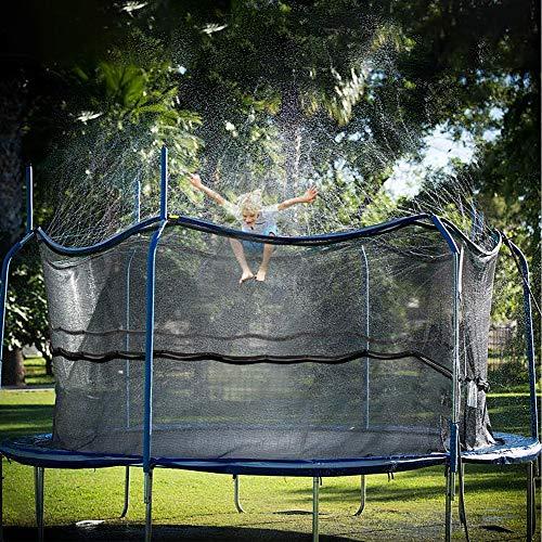 Jasonwell Trampoline Sprinkler for Kids Outdoor Trampoline Sprinkler Waterpark Fun Summer Outdoor Water Games Yard Toys Sprinklers Backyard Water Park for Boys Girls (39 ft)