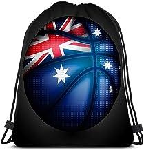 Sacs à Cordons Basket Australienne Sac D'École Homme Femme Sac à Dos Portable Sac De Gym Ultra-Léger pour Plage Ecole