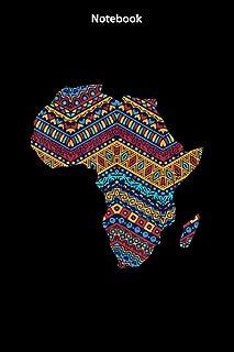 Notebook Africa Flag Kente Cloth Black Pride African American-N1: Notebook Journal