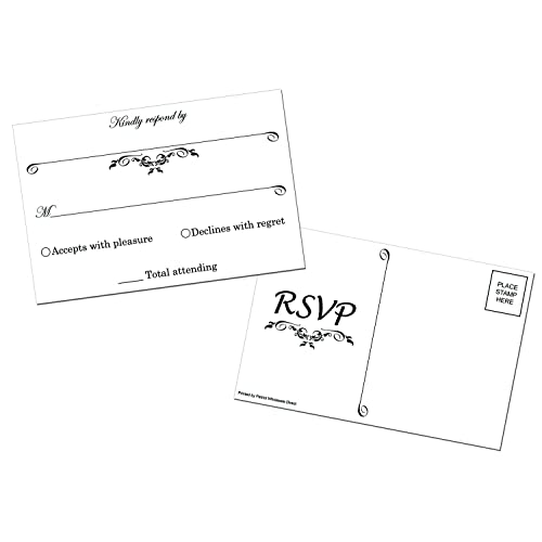 50 RSVP 4x6 Postcards for Parties by Patriot Wholesale Direct