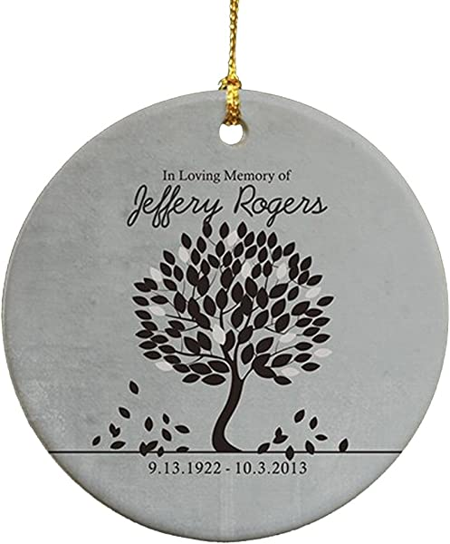 GiftsForYouNow In Loving Memory Personalized Ornament 2 75 Ceramic