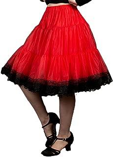 Zooey Luxury Chiffon Adult Petticoat Slip, Lace Trim, Adjustable