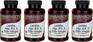 Swanson Lecithin Kelp B-6 & Cider Vinegar 240 Tabs (4 Pack)