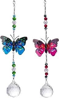 Crystal Suncatchers Hanging Pendant Butterfly Prism Windows Car Decorations