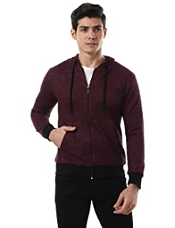 Off Cliff Front Pockets Elastic Trims Long Sleeves Hooded Jacket for Men