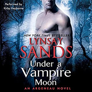 Under a Vampire Moon     An Argeneau Novel, Book 16              Written by:                                                                                                                                 Lynsay Sands                               Narrated by:                                                                                                                                 Kirby Heyborne                      Length: 11 hrs and 44 mins     1 rating     Overall 5.0