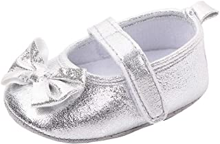 Hopscotch Zia Shoes Baby Girls Cotton and PU Open Toe Sandals in Silver Color, UK:4.5