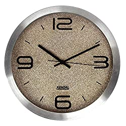 Kendal 12'' LED Silent Modern Wall Clock with Night Light for Living Room, Kitchen WC3012-b
