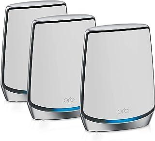 NETGEAR Orbi Wifi 6 Mesh RBK853, Router Wifi 6 + 2 Satelliti, Copertura Fino a 525 m2 e 60 Dispositivi, Velocità AX6000 Tr...