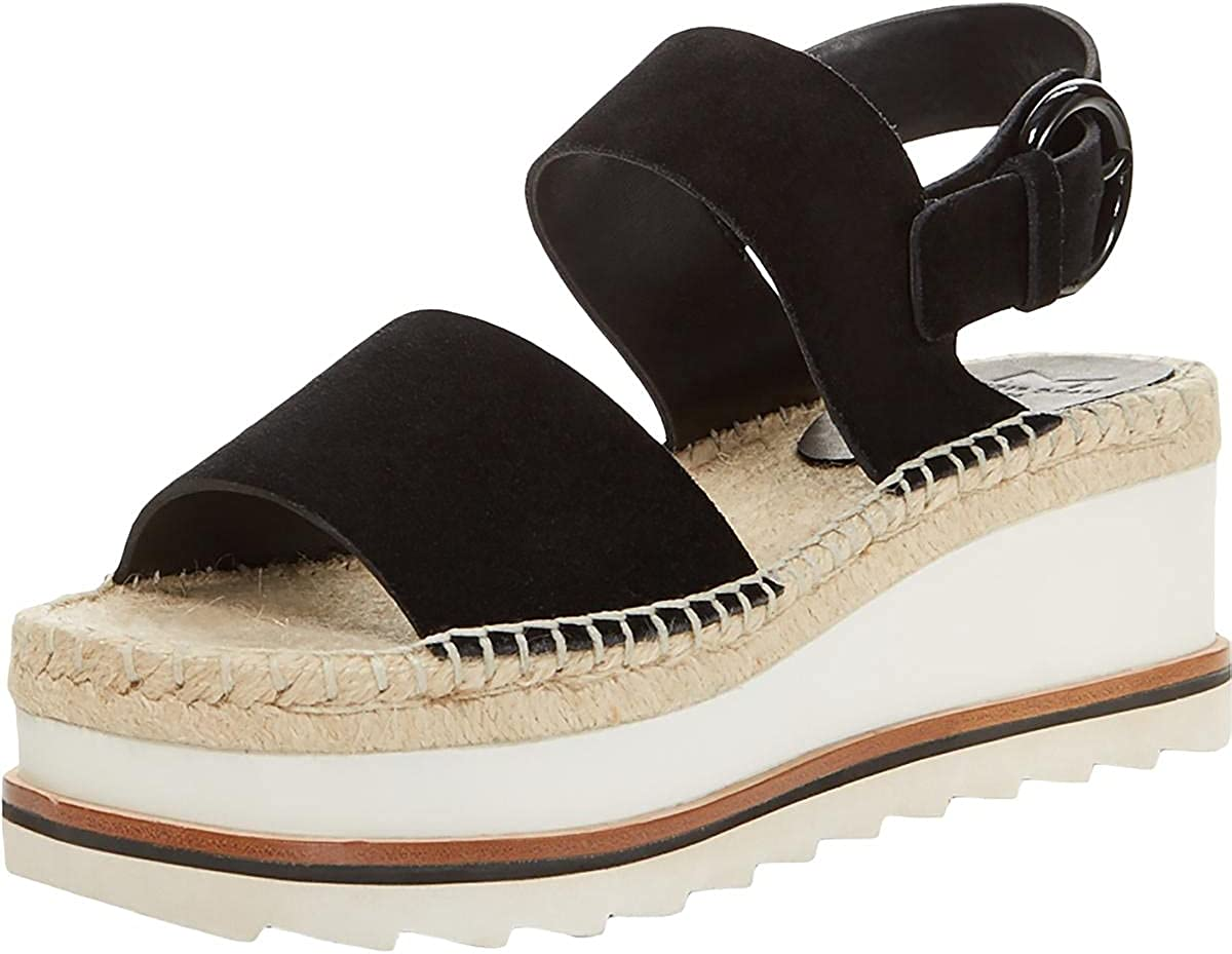 Marc Fisher LTD Womens Greely Suede Ankle Wedge Sandals