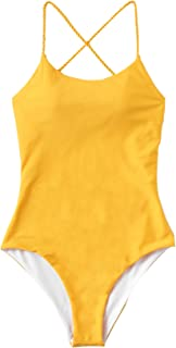 Best cute yellow one piece swimsuits Reviews