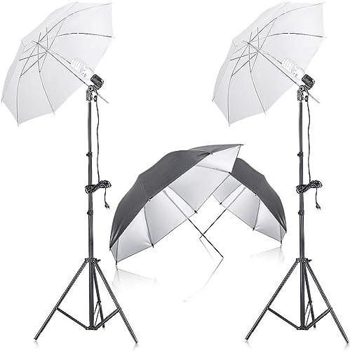 """Neewer 2pz 33/""""//83cm Ombrello Morbido Traslucido per Flash da Studio Fotografico"""