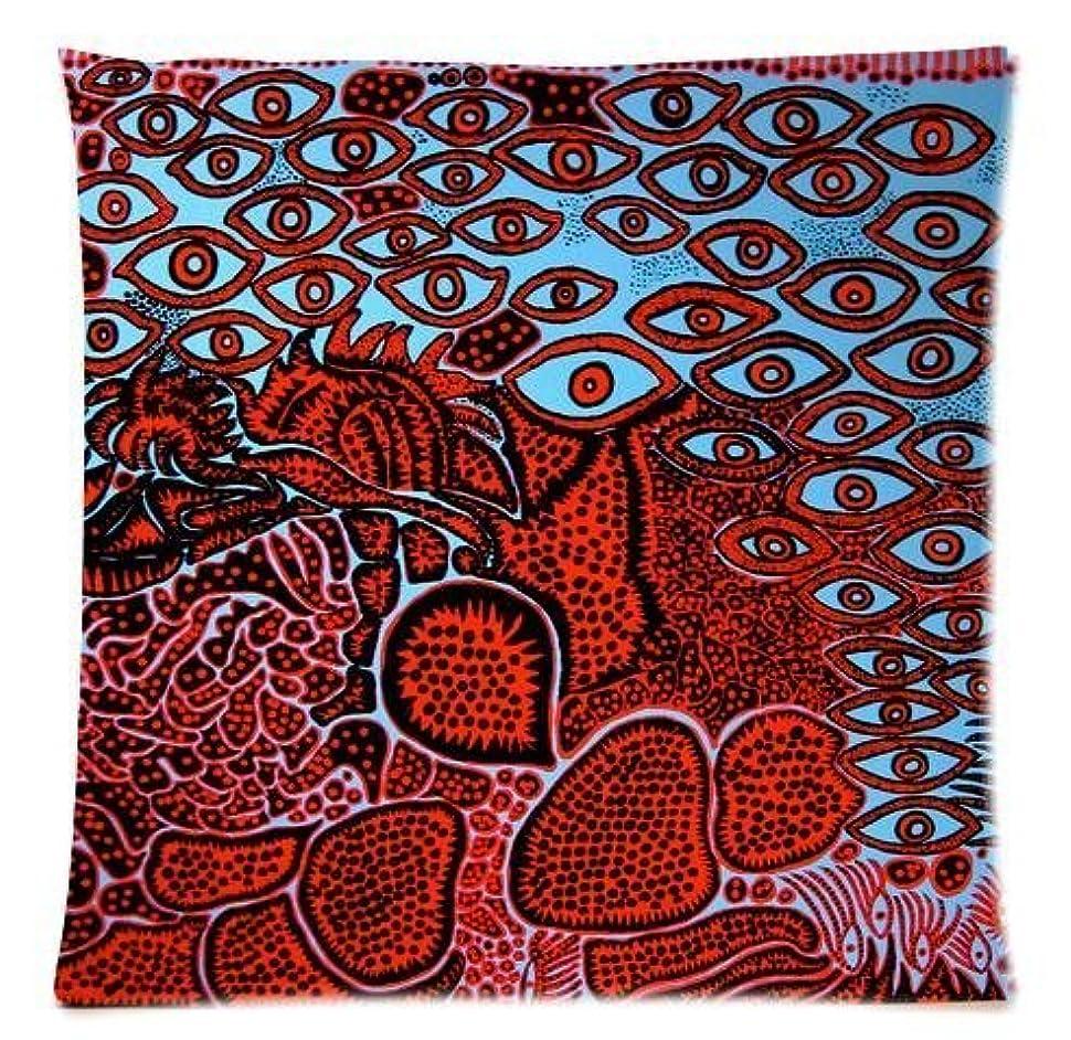 リスナー不測の事態アカウント草間弥生アートワークアイズツインサイドジッパー枕カバーホームベスト18