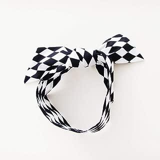 Black and White Harlequin Head Scarf / ME2Designs Multipurpose Cotton Accessory