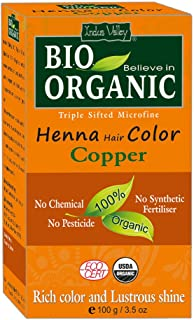 Indus Valley 100% Organic Copper Henna Hair Color