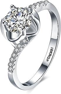 Rétro Femmes 925 Sliver Ring Citrine Naturelle Mariage Fête Fiançailles Taille 6-9 CN