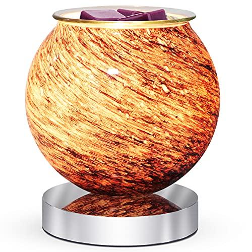 ARVIDSSON Calentador de cera eléctrico de cristal para cera perfumada – Calentador de cera para derretir con estilo universo, quemador de cera, calentador de fragancia para decoración del hogar, oficina, dormitorio, la mejor idea de regalo
