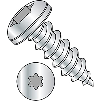 Zinc Plated Phillips Drive Type AB Pack of 100 Pan Head Steel Sheet Metal Screw #8-18 Thread Size 5//8 Length