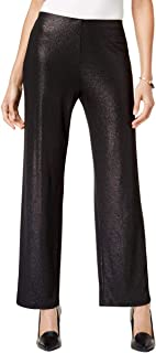 Womens Sparkle Wide-Leg Dress Pants