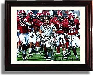 Framed Alabama Football 2013 Team Autograph Replica Print