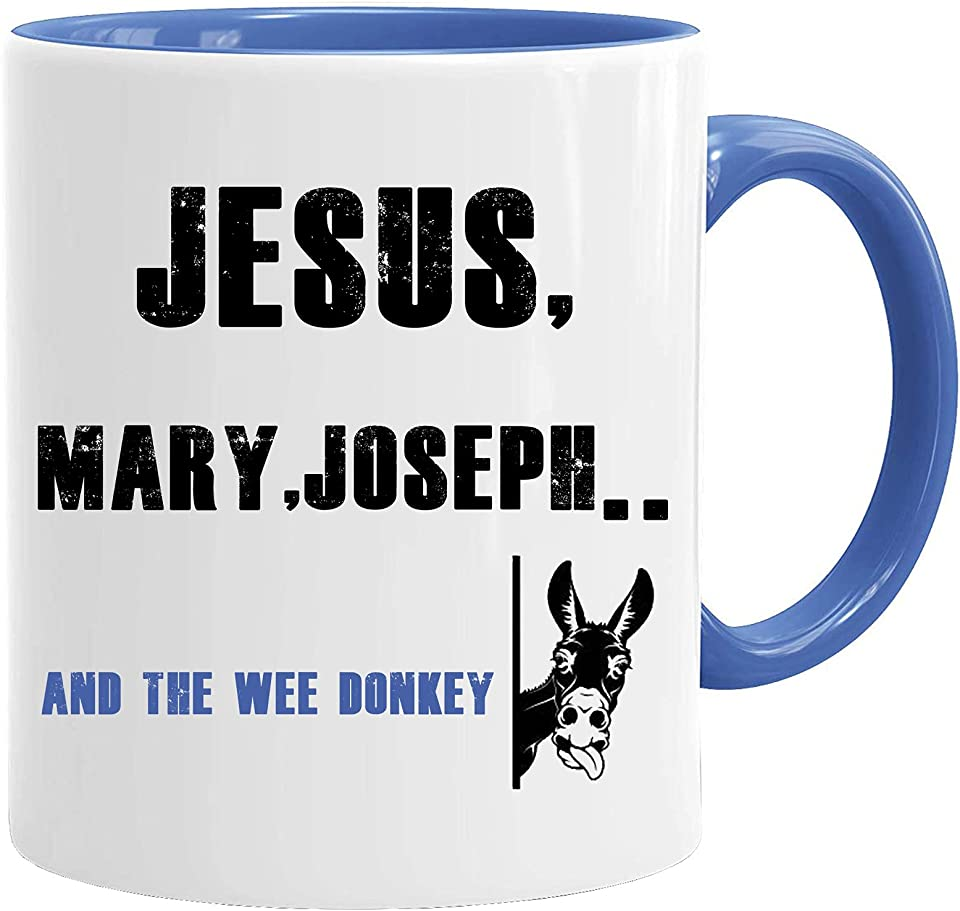 Line of Duty Mug & Gift Box Set 11oz Premium Quality Work Humour - Jesus Mary Joseph and The Wee Donkey