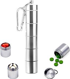 Set di 2 portachiavi Exceart integratori e medicinali colore: grigio per contenere vitamine di pesce