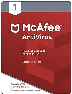 McAfee Antivírus – Programa Premiado De Proteção Contra Ameaças Digitais, Programas Não Desejados, 1 PC - Cartão - 2021 - ...