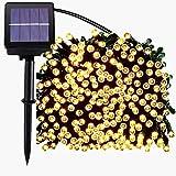 Kalokelvin Luces LED Solares para Exteriores 22 Metros 200 LED Luces, 8 Modos, Impermeables Exteriores e Interiores Luces de Decorativas Perfecto para Jardín, Patio, Arboles, Boda(Blanco cálido)