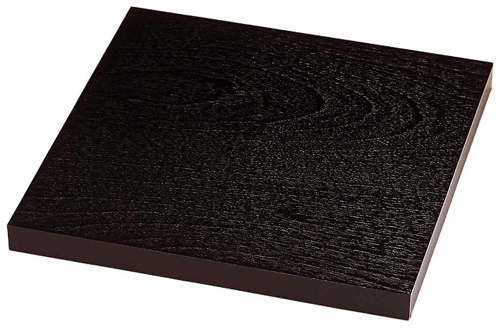 古代相続人驚き山家漆器店 木製 花台 正角板 6号 紫檀調 (8号)