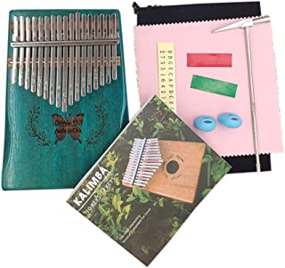 Decdeal Kalimba Mbira Thumb Finger Piano Portable 17 Keys Solid Wood Musical Instrument Gift for Music Lovers Beginners