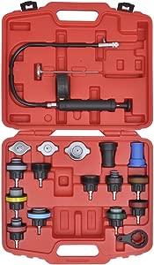 Festnight Pieces Radiator Pressure Tester Kit for VW  Audi  Volvo  Saab  Mercedes-Benz  BMW  etc  Garage Workshop DIY Tools