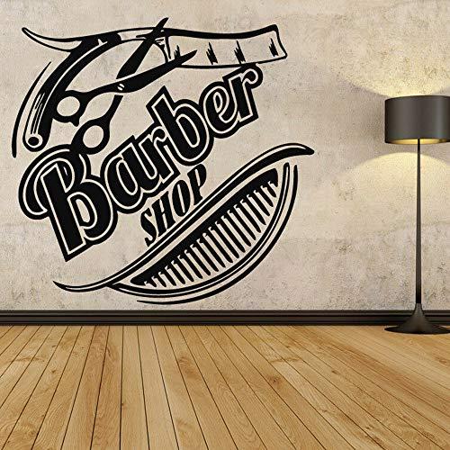 mgrlhm Peluquería Pared Vinilo Pegatina barbería Logo Logo Belleza SPA Set decoración it Home Room decoración Papel Pintado 30x30cm