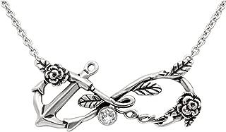 swarovski anchor necklace